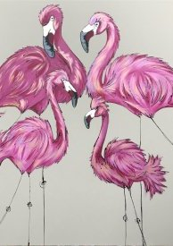 Be A Flamingo In A Flock Of Pigeons Unframed